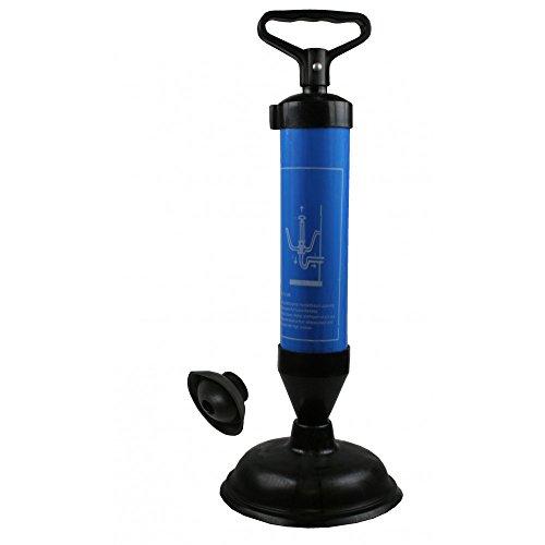Krachtige en efficiënte afvoerreiniger, met verwisselbare zuignappen voor gebruik in afvoeren van elke diameter voor het moeiteloos reinigen van buizen en afvoeren van toiletten, wastafels, douches, badkuipen enz.