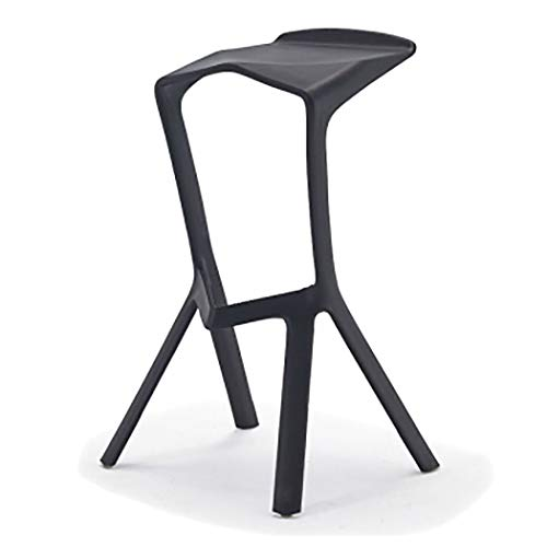 JQQJ bartafel met barkruk stapelbare plastic stoelen barkruk voetsteun barkruk creatieve manier casual Shark barkruk stoelen hoge stoel