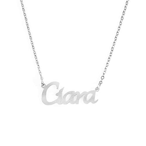 Kigu Ciara Personalized Name Necklace Adjustable Chain - Silver Tone Packaging