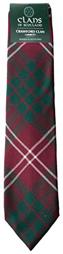 I Luv Ltd Crawford Clan 100% Wool Scottish Tartan Tie