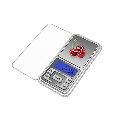 AIysays 100/200/300 / 500g x 0.01/0.1g Joyas de Alta precisión Escala de Cocina Escala de Pantalla LCD electrónica Mini Escala Digital de Bolsillo Easy to Use (Load Bearing : 100g x 0.01g)