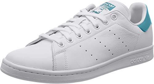 adidas Stan Smith, Scarpe Uomo, Bianco (Cloud White/Cloud White/Blue Glow), 41 1/3 EU