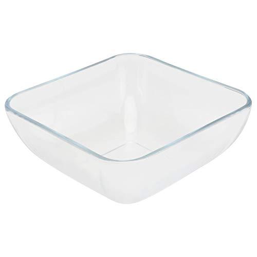 YARNOW Cuencos de Vidrio Cuenco de Sopa de Cereal Cuenco de Preparación para Ensaladas Tazón de Mezcla Cuadrado Cuenco de Postre para Servir Cuencos de Nueces Cuencos Platos con Forma de