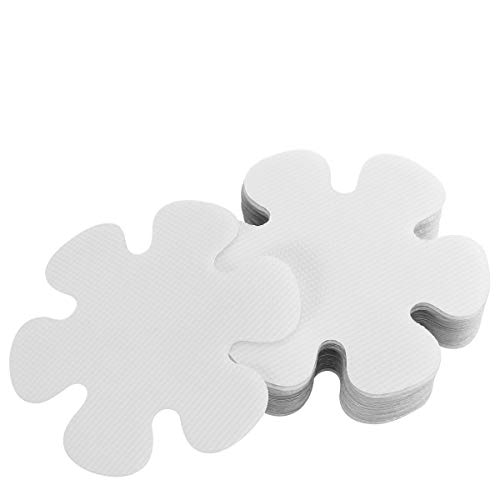 Ounona 20PCS a forma di fiore inserti antiscivolo adesivi sicurezza vasca da bagno per doccia 10?cm (trasparente)