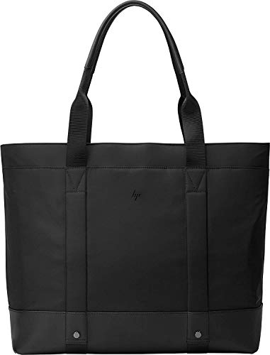 HP Envy Uptown Black Tote Fits Up to 15.6 Inch (39.6 cm) Laptop/Chromebook/Mac with Cable Routing System, RFID