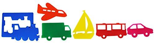 HenBea- plantillas con formas de transportes (717) , color/modelo surtido