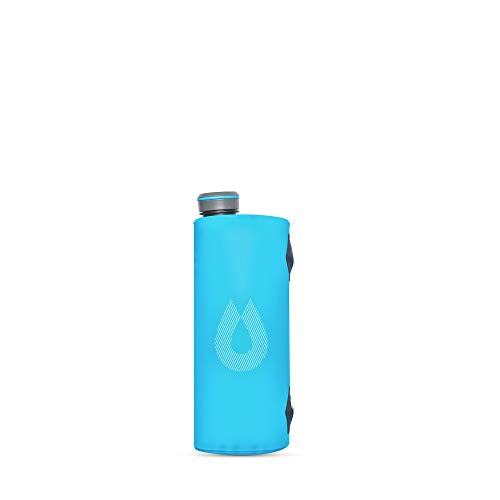 HydraPak Seeker - Collapsible Water Storage (2L/66oz) - BPA & PVC Free Camping Hydration Reservoir - Malibu Blue