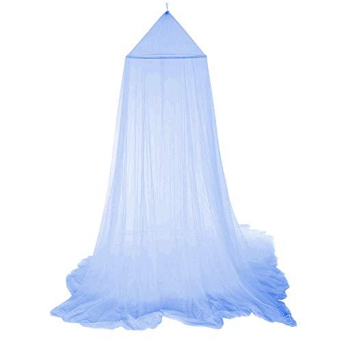 Moskitonetz Baldachin Mückennetz Betthimmel Insektenschutz Netz Für Doppelbetten Baby Kid Kinder Daheim Oder Für Die Reise,Hohe 250cm Blau …