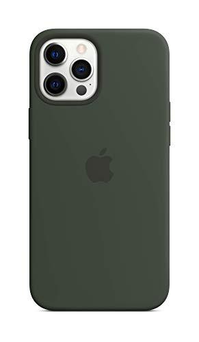 Apple Custodia MagSafe insilicone (per iPhone 12 Pro Max) - Verde Cipro
