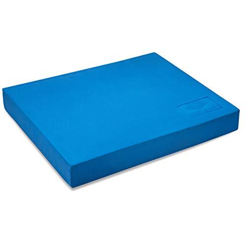MY ANU Balance Pad I Balance Board für Stabilität Gleichgewicht und Koordination I Balance-Kissen Gleichgewichtstrainer I Yoga Fitness Zubehör für Zuhause I Balance Matte blau 48 x 40 x 6 cm