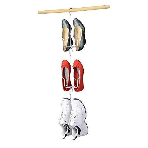 mDesign Schuhbügel – der praktische Schrank Schuhhalter und Stiefelhalter zum Aufhängen, 3 Stück