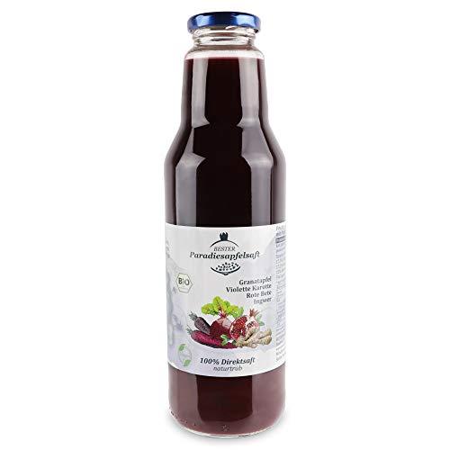 Granatapfel-Violette Karotte-Rote Bete-Ingwer - 100% Bio-Direktsaft (naturtrüb) - 12 x 750 ml