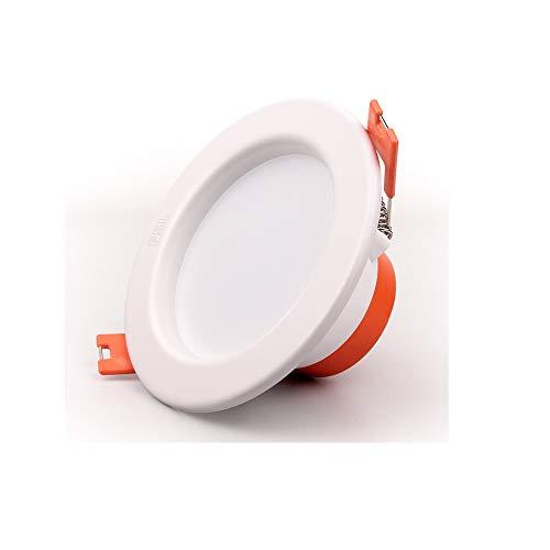 Ahorro de energía Empotrable Foco empotrable for el techo LED Foco de aluminio Luminaria redonda Panel interior Lámpara antideslumbramiento Iluminación de iluminación comercial Accesorio for sala de e