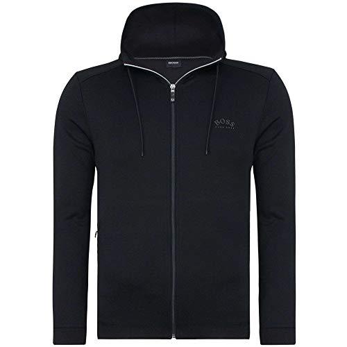 310mXzM5WXL. SS500  - BOSS Mens Saggy Hybrid Sweatshirt in Cotton-Blend Fabrics with Curved Logo