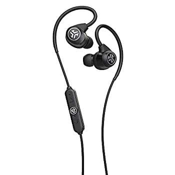 JLab Epic Sport2 Wireless Earbuds | Black | Active Lifestyle 20+ Hour Battery Life | Bluetooth 5 | IP66 Sweatproof | Built in Microphones | Noise Isolation | Extra Gel Tips & Cush Fins