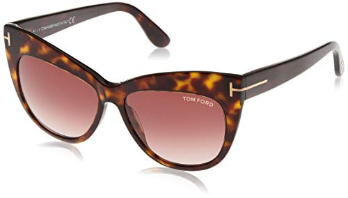 Tom Ford FT0523 5652F Sonnenbrille FT0523 52F Cateye Sonnenbrille 56, Braun