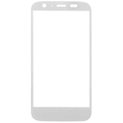 xiaowandou Reparar para su teléfono Pantalla Frontal IPartsBuy reemplazo de la Lente de Cristal Externa for Motorola Moto G / XT1032 Accesorios a renovación (Color : White)