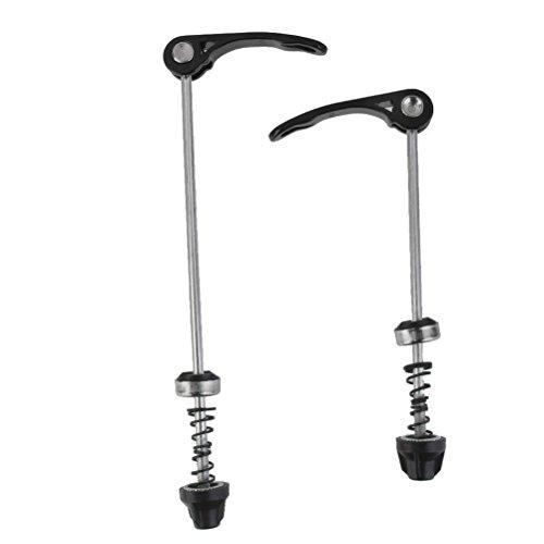 WINOMO Fahrrad Schnellspanner für Rad Nabe vorne und hinten Spieße Radsport Teile 2St (schwarz)