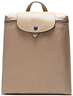 Luxury Handbag Shoulder Bag Nylon Backpack Shoulder Bag Fashion Leisure Backpack (Color : Khaki)