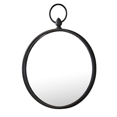 Loberon Spiegel Franton, Eisen/Spiegelglas, H/Ø ca. 35,5/25,5 cm, grau/schwarz
