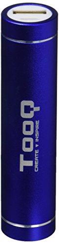 TooQ TQPB-1A26-BL - Bateria Externa de 2600 mAh (1 USB, 5V/1A, Aluminio), Incluye Cable USB de 30cms, Power Bank, Certificacion CE/ROSH, Color Azul