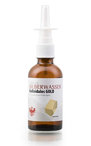 Tiroler Silberwasser Gold, kolloidales Gold, 50ml Nasenspray - 2 ppm