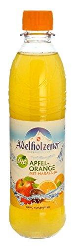 MEHRWEG Adelholzener Alpenquellen Mineralwasser mit Apfel, Orange & Maracuja (500 ml) - Bio