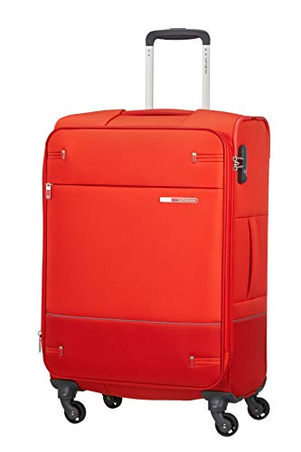 Samsonite Base Boost - Spinner M Expandable Suitcase, 66 cm, 67.5/73.5 Litre, Red (Fluo Red)