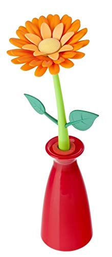 VIGAR Flower Power Bolígrafo con Recambio Universal, Naranja, 7.5X7.5X24 Cm