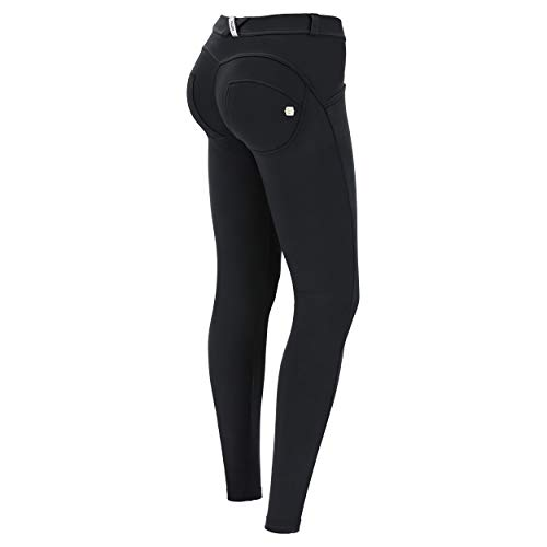 FREDDY Jeggings WR.UP Made in Italy Effetto Push up - Jeans Nero-Cuciture Nere - Large