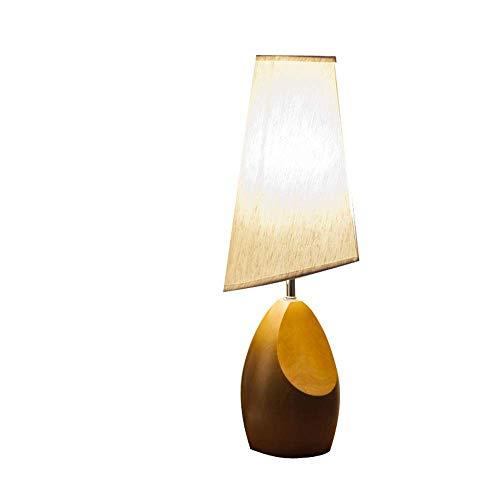 Hogreat Lámpara de Mesa Lámpara de Lino de Madera lámpara de Noche Dormitorio Sala de Estar Creativa Aprendizaje Hotel café lámpara de Mesa de Madera (Color:Gris) (Color : Gray)