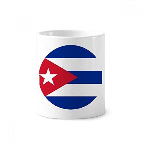 Kuba National Flagge North American Symbol Keramik Zahnbürste Stifthalter Becher weiß Tasse 350ml Geschenk