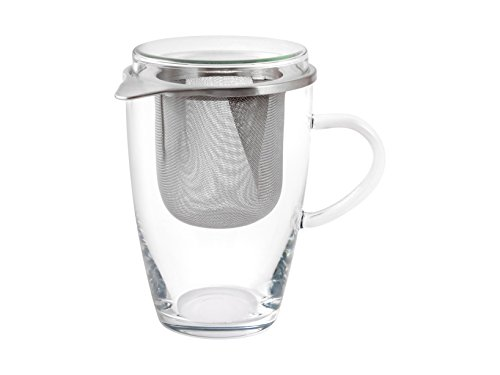 Bohemia Cristal Set Tea for ONE Teeglas, Glas, Transparent, 11x8.5x13.5 cm