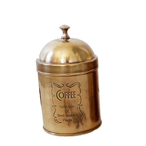 Dosatori Barattolo di stoccaggio Barattoli di tè Fatti a Mano, caffettiera, zuccheriera, Serbatoio di stoccaggio Serbatoio di stoccaggio in Puro Rame contenitori (Color : B)