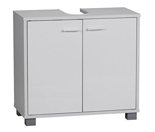 WOHNLING Mobile da Bagno per lavabo, Legno, Bianco, 60 x 55 x 30 cm
