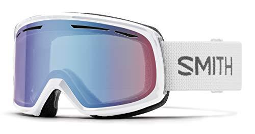 Smith Optics Adult Womens Drift Snow Winter Ski Goggles (White/Blue Sensor Mirror)