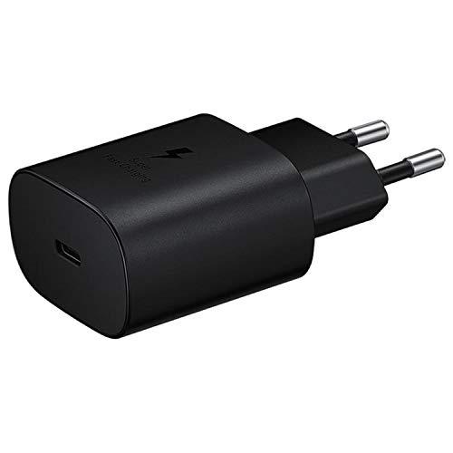 SAMSUNG EP-TA800NBEGEU - Caricabatterie rapido da 25 W, Porta USB di Tipo C (Senza Cavo), Nero