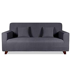 TAOCOCO Funda de sofá con Forma de Diamante/Funda de sofá Antideslizante/Funda de sofá elástica/Lavable/antiácaros/Antiarrugas (Gris, 180_x_240_cm)