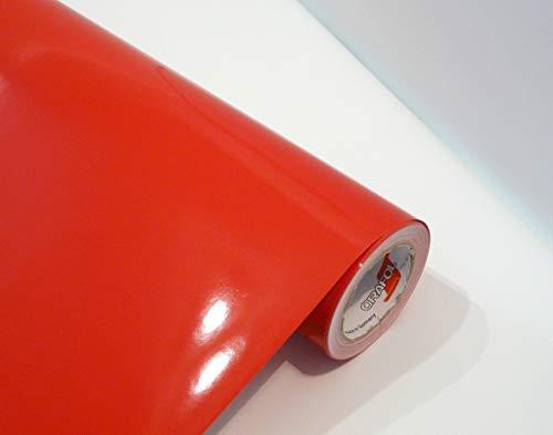 Neu bei tjapalo® Möbelfolie rot selbstklebend hochglanz Küchenfolie Bastelfolie Türfolie Klebefolie zum basteln folie zum bekleben von möbel mit Anleitung, Farbe: Rot, Größe: L50xB63cm