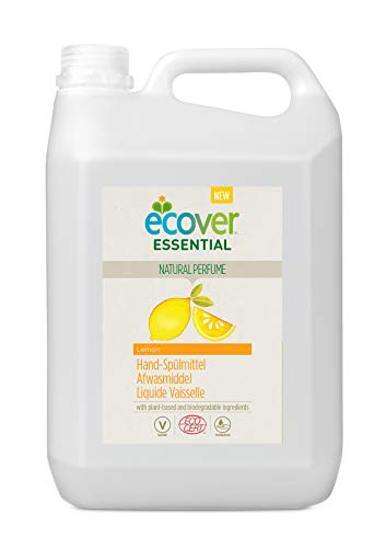 Ecover - Líquido para vajilla con aroma a limón XL   origen natural ecológico responsable y suave para tu piel   Certificado ecológico Ecocert   5 l