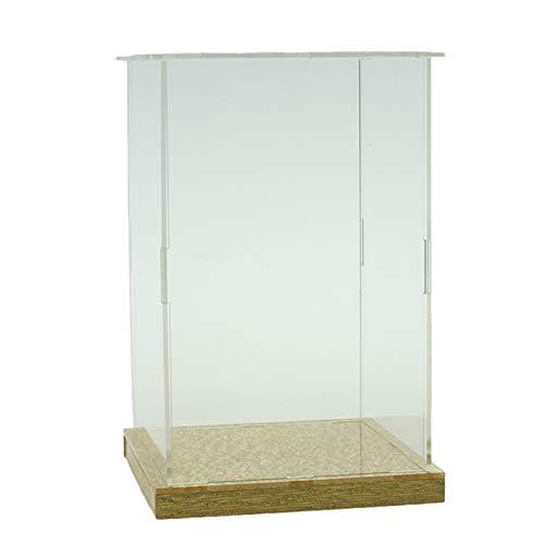 LM-Coat rack XINGLL Acrílico Vitrina Transparente, Caja Protección para Coleccionables, Almacenamiento Prueba Polvo, para Juguetes Modelos, Coches Fundidos Figuras Artículos Cubo, Base Dorada