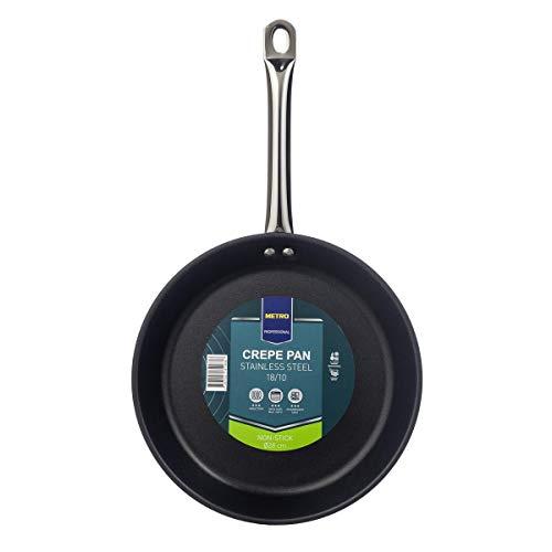 METRO Professional Crepepfanne | Edelstahl | Ø 28 cm | beschichtet | Induktion | Spülmaschinenfest | Pfannkuchenpfanne | Backofenfest | Antihaftbeschichtung | Pancake | Pfanne für Crepes | Pfannkuchen