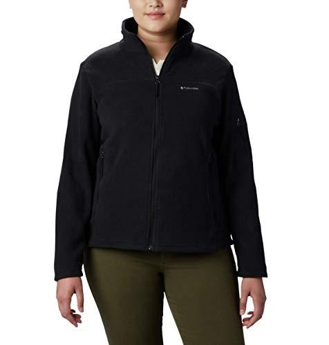 Columbia Women's Fast Trek II Full Zip Soft Fleece Jacket, Black, Medium