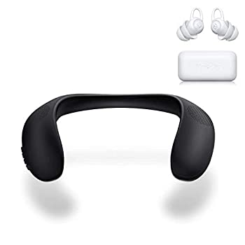 Bluedio HS Wearable Speakers & Bluedio NE Ear Plugs for Sleeping