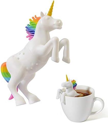 Hary Unicorn Tea Infuser 1 Pcs Reusable Loose Leaf Tea Strainer Funny Animal Shaped Tea Filter product image