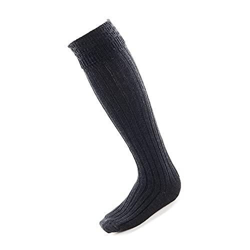Traditionelle schottische Highland-Kleidung, Kilt Hochzeit Hogmanay Socken Hose, anthrazit, Large