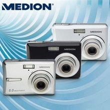 Medion Life E42001 Digitalkamera (8 Megapixel, 3-Fach Opt. Zoom, 6,4 cm (2,5 Zoll) Display)