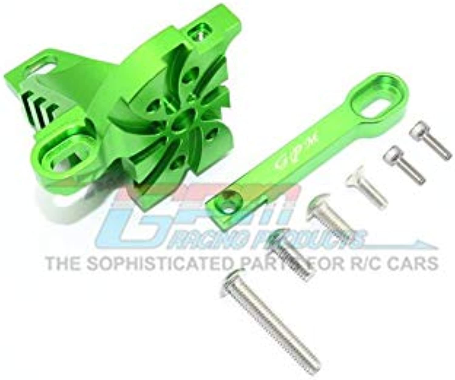 Traxxas Unlimited Desert Racer 4X4 ( 85076-4) Upgrade Parts Aluminum Motor Mount with Heat Sink Fins - 1 Set Green