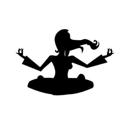T-JPCT Autocollants côté Voiture Autocollant réfléchissant de personnalité de Yoga Autocollant de Voiture personnalité Sexy Surfant la réflexion, Jaune