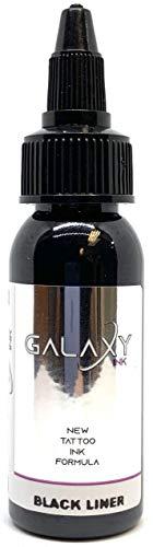 GALAXY INK - Tinta para tatuaje - BLACK LINER 1oz (30ml)